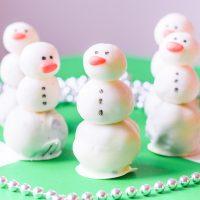 turffles made into snowmen