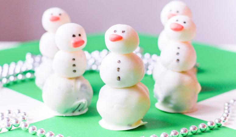 Oreo Truffle Snowman Recipe for Winter