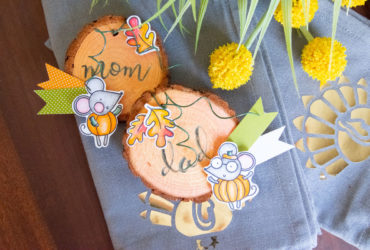 DIY Thanksgiving Place Cards with Xyron + Waffle Flower