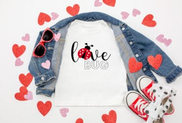 DIY Love Bug T-Shirt – Plus 15 FREE Valentine SVG Files