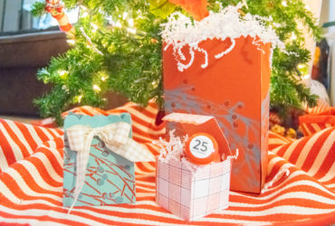 Make your own Christmas Gift Bags using stencils from DecoArt