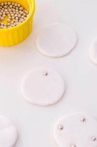 white fondant circles