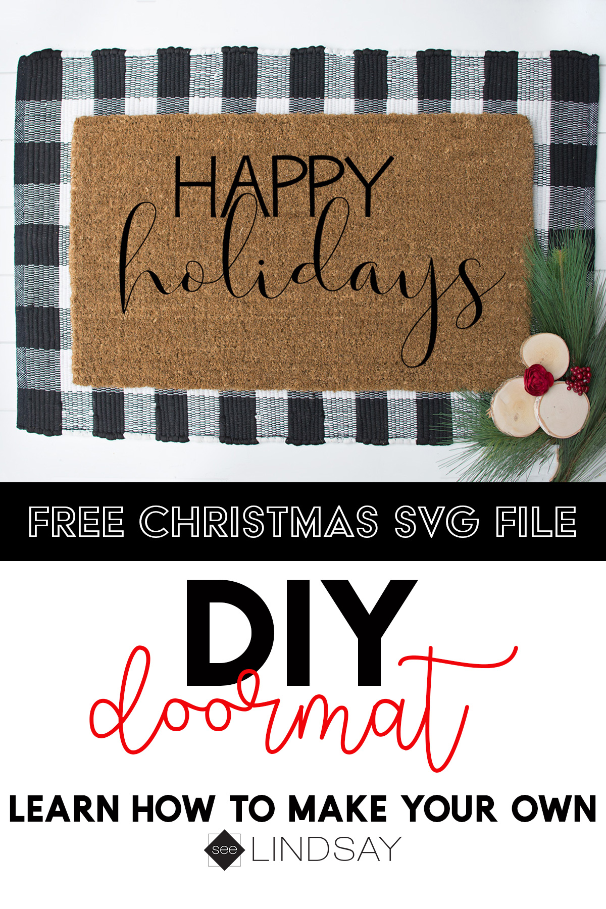 make your own custom doormat Pinterest