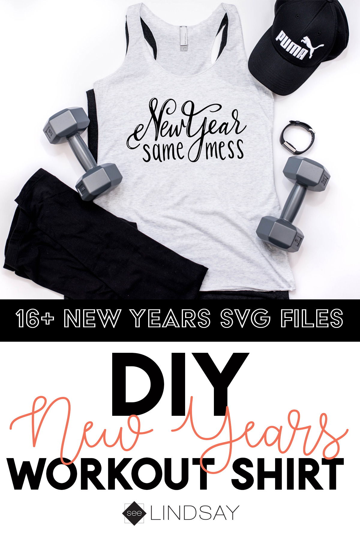 diy workout shirt new year same mess