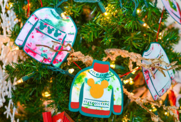DIY Disney Ugly Christmas Sweater Garland