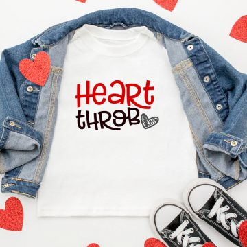 heart throb valentine t-shirt