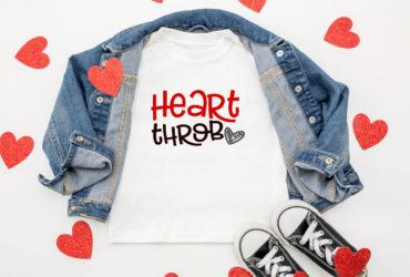 Custom T-Shirt for Valentines Day – FREE Heart Throb SVG