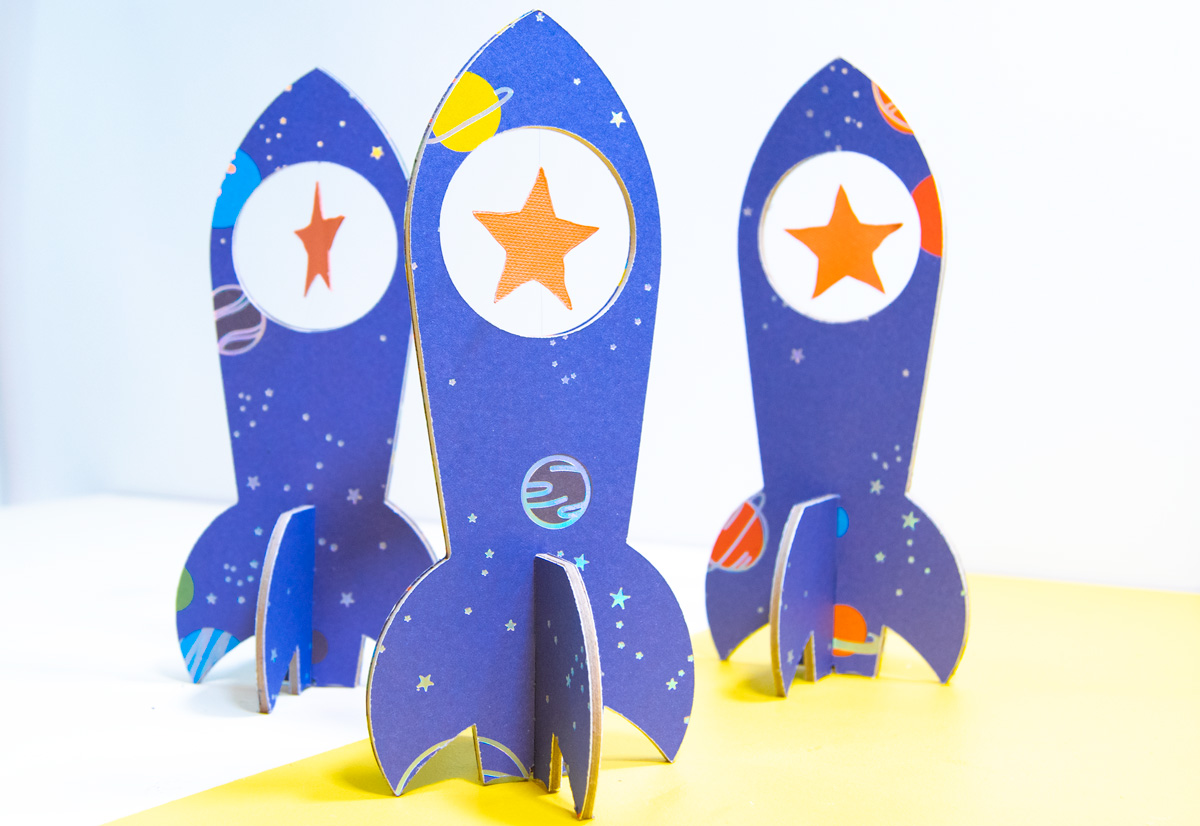 DIY Space Party 3D Paper Spaceships