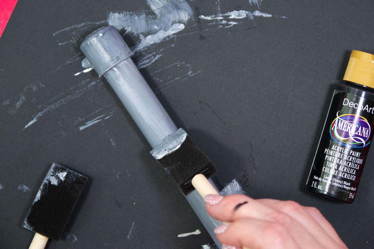 make pvc look like aluminum