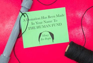 DIY Festivus Aluminum Pole & Human Fund Donation Printable