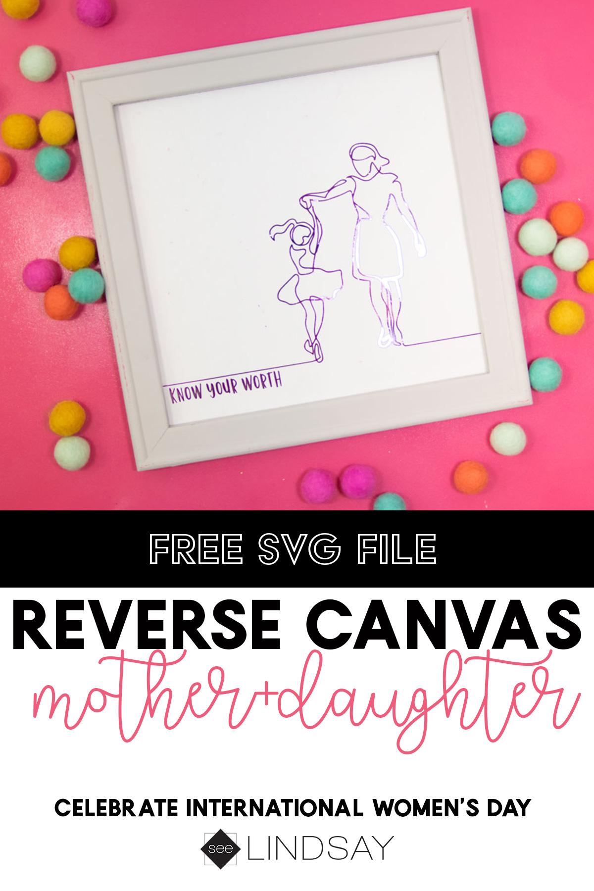 International Women's Day Reverse Canvas