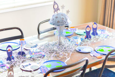 DIY Rocket Cake Stand That's Out of This World!