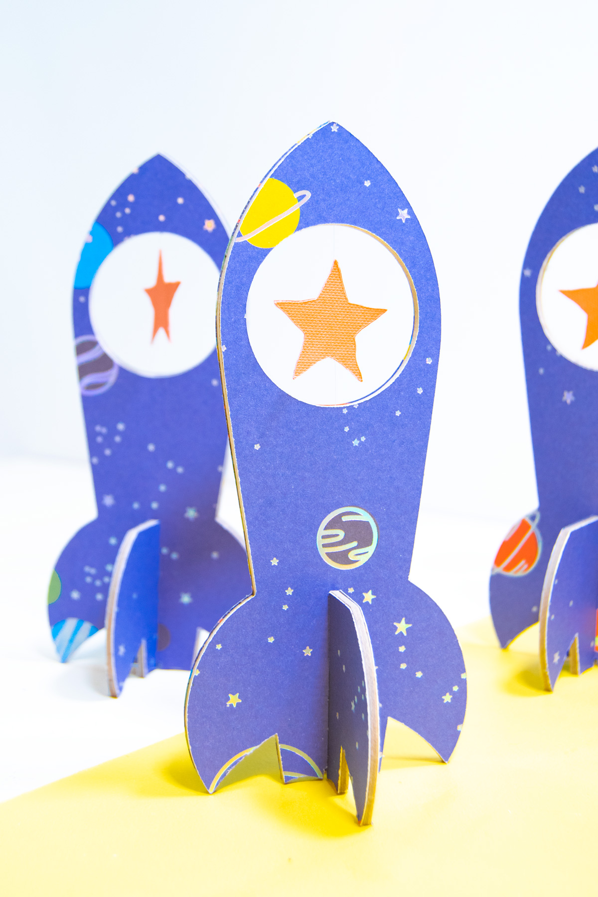 3d chipboard paper spaceships