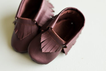 Baby Moccasin Pattern with Cricut Leather