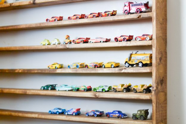 Wall Display Case for Toy Cars