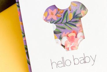 Handmade Baby Shower Card using your Cricut & Xyron