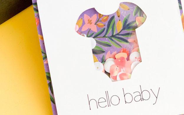 Hello Baby Shaker Card