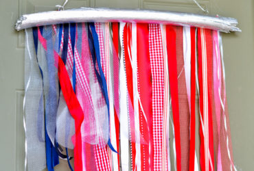 American Flag Wall Art with Ribbon – Quick Patriotic Craft