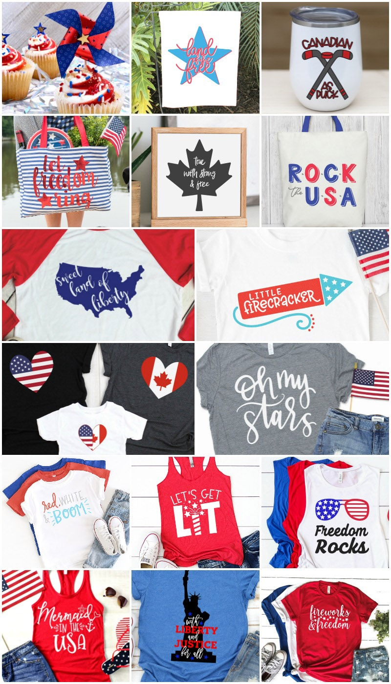 ideas for Cricut fourth of July shirt