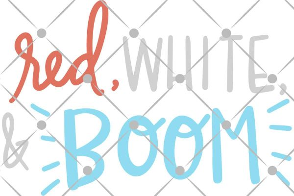 red white and boom svg