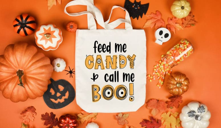 FREE Halloween SVG File – Feed Me Candy & Call Me Boo!