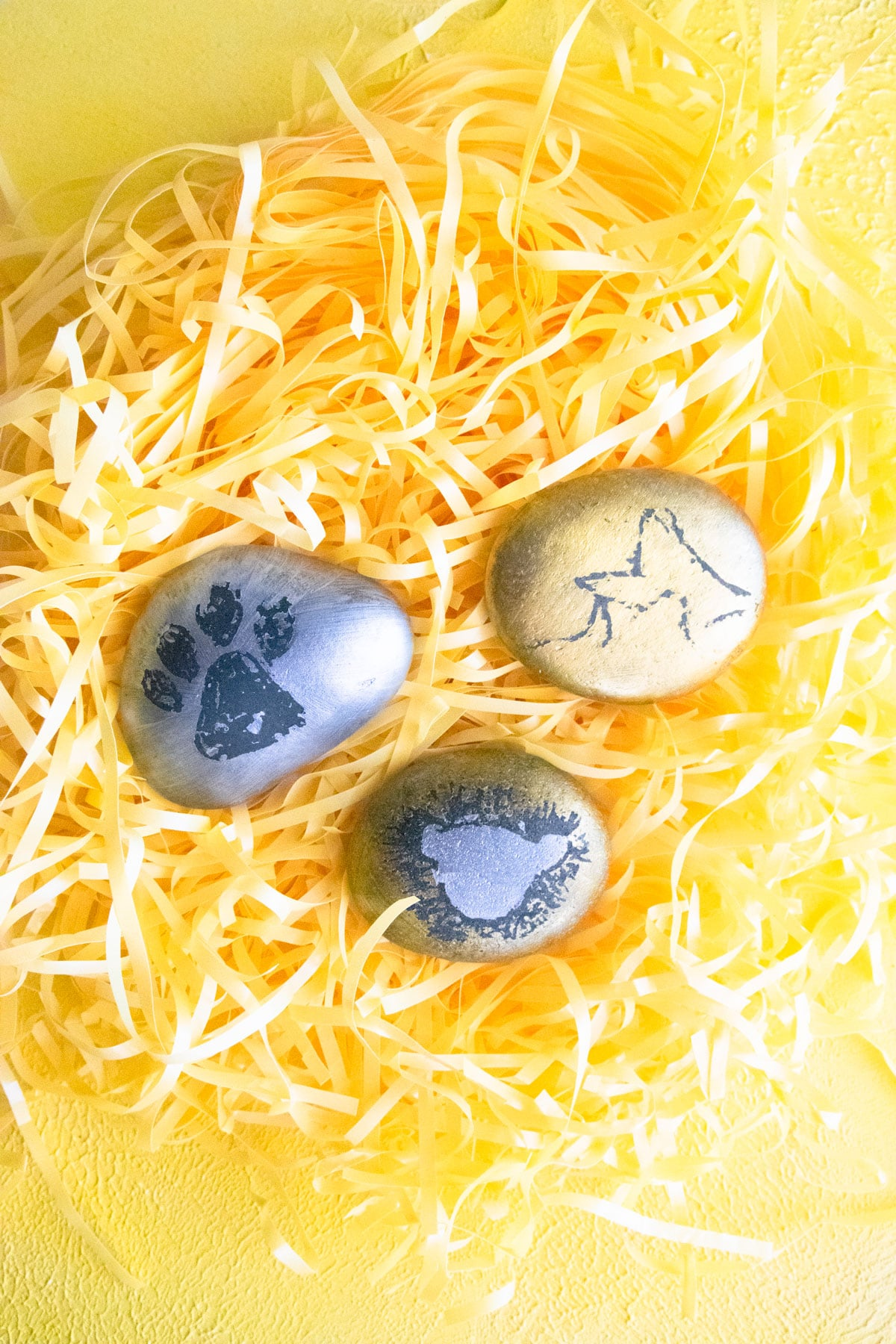 Kids Lion King Craft rock painting design