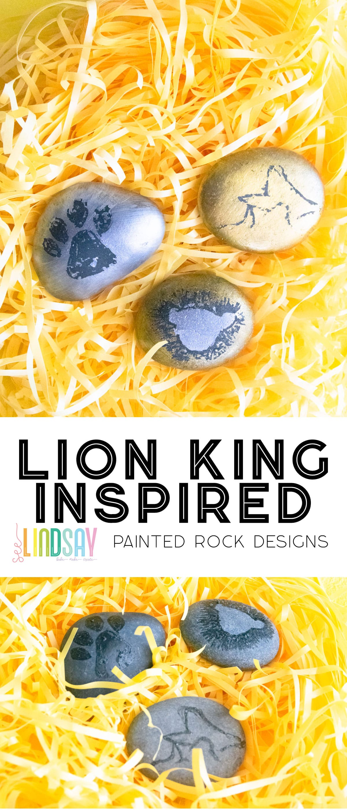 Disney Lion King Painted rocks