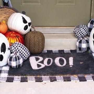 diy ghost pumpkins
