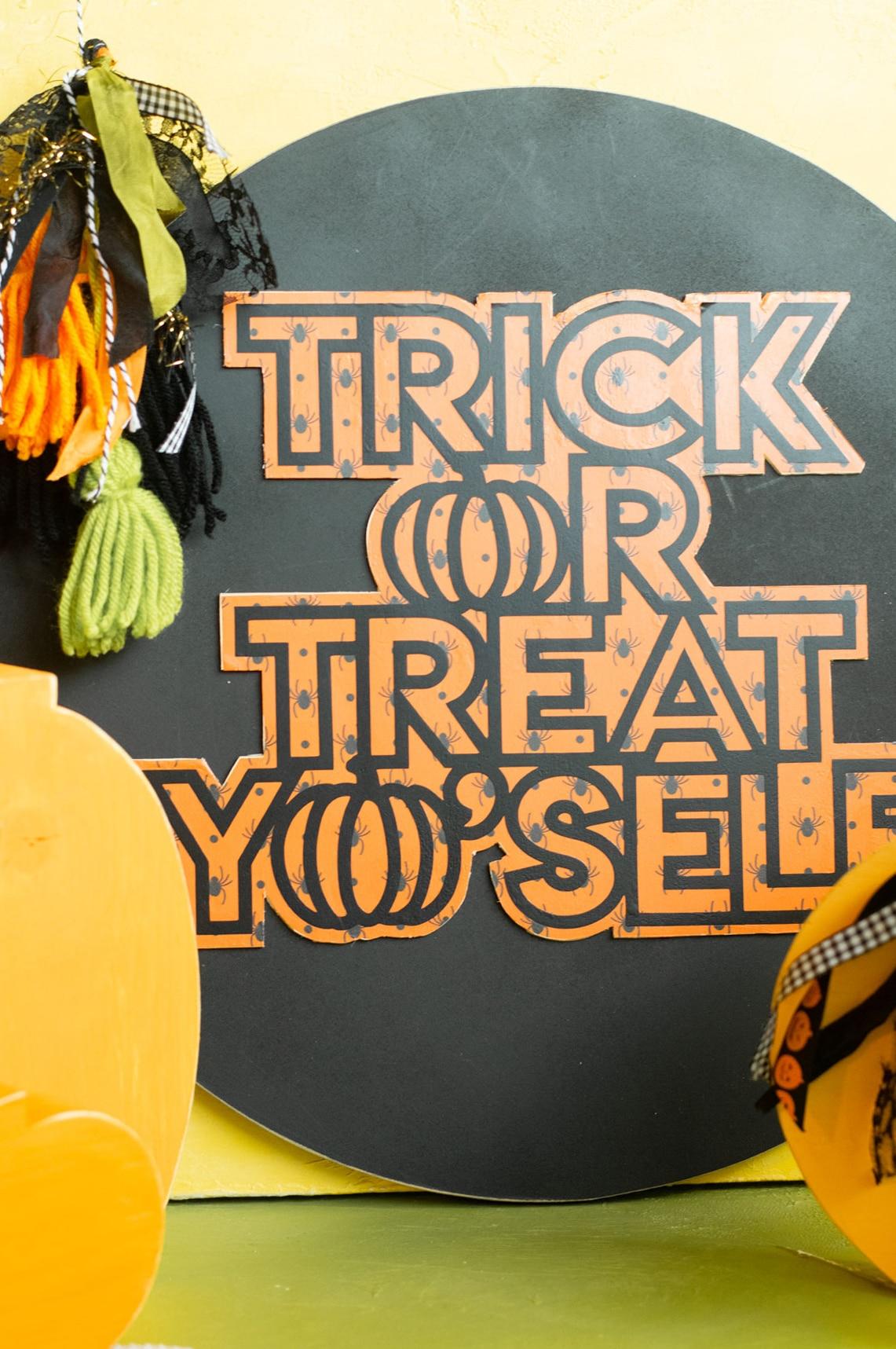 trick or treat yo self svg