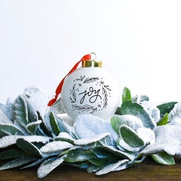 cricut christmas ornament