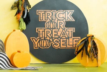 Trick or Treat Yo Self Sign with Expressions Vinyl
