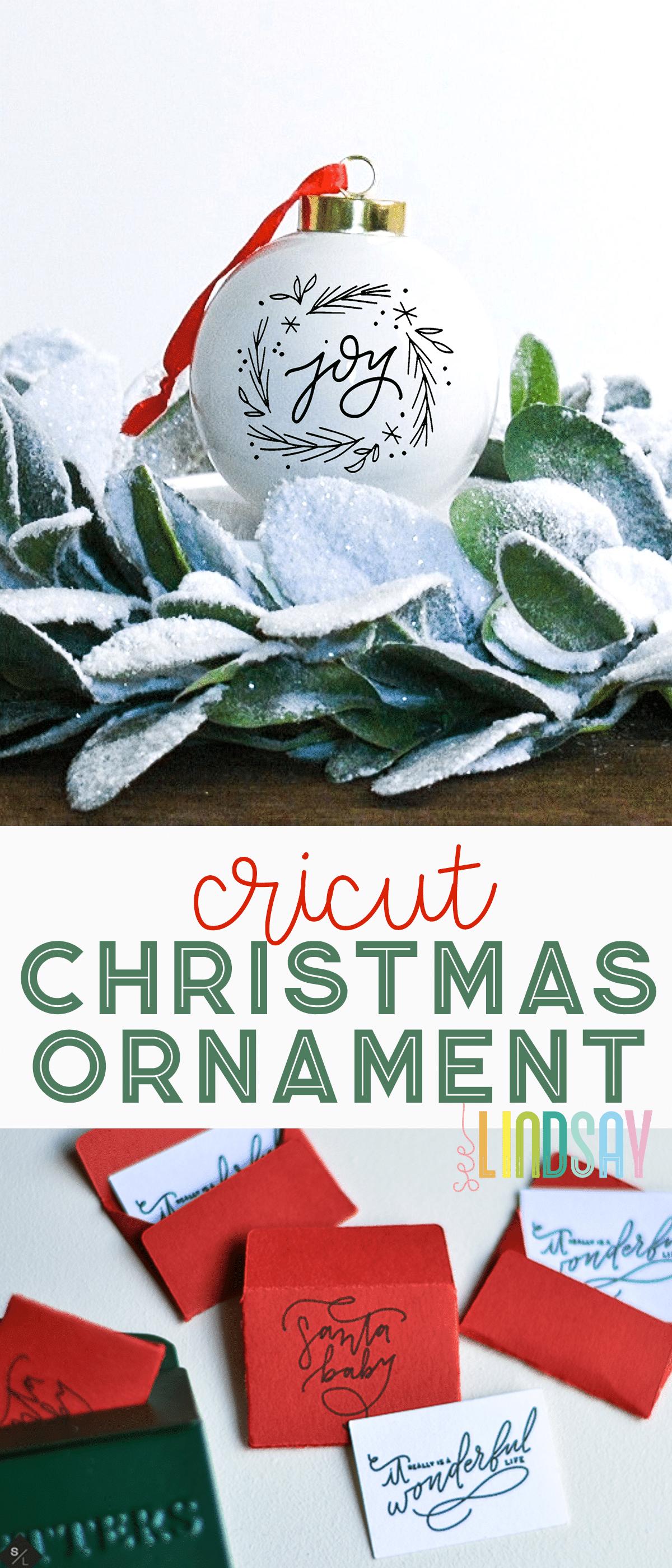 cricut christmas ornament ideas