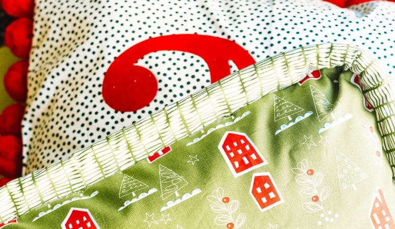 DIY Christmas Pillows with Fairfield World