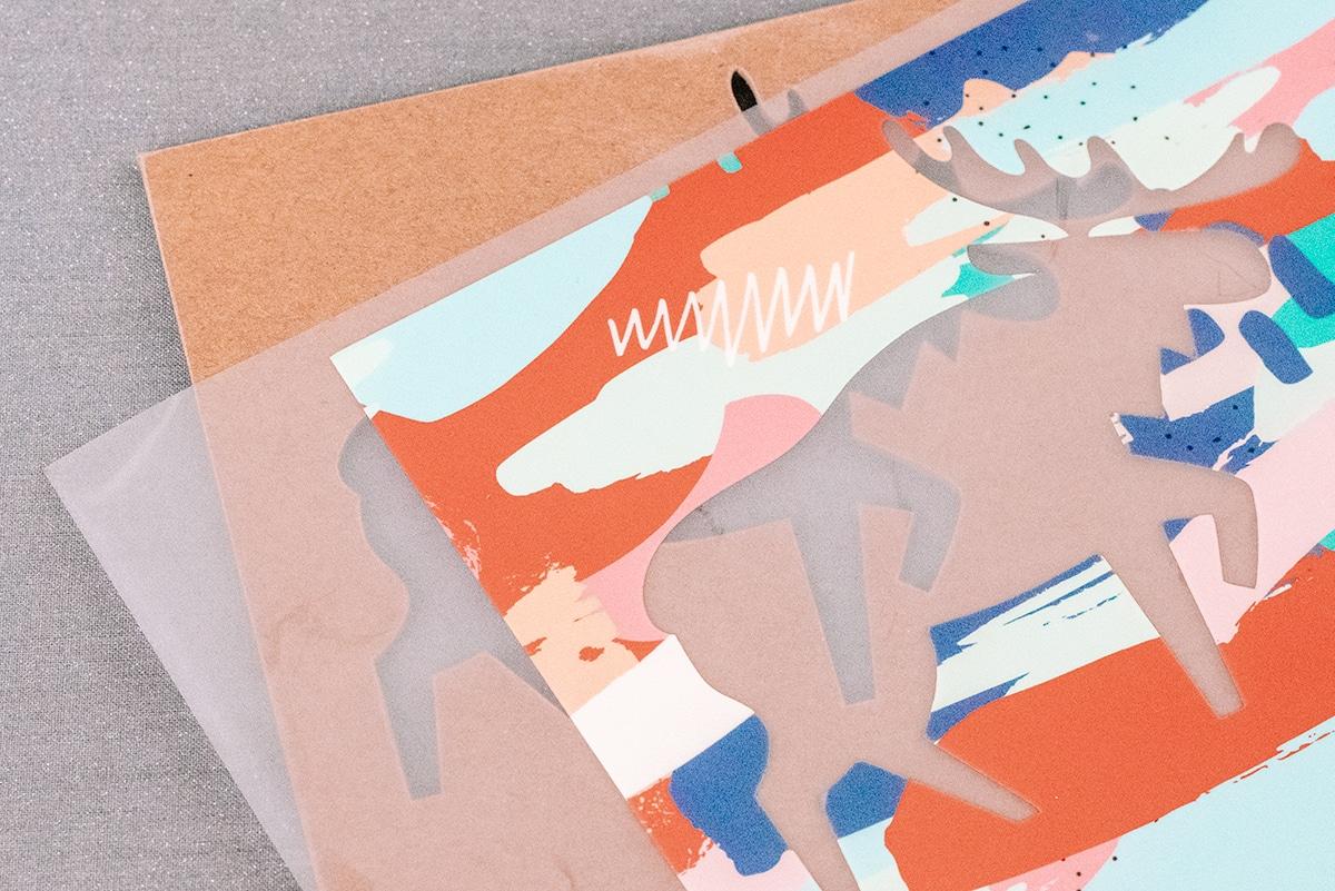 iron on vinyl on chipboard