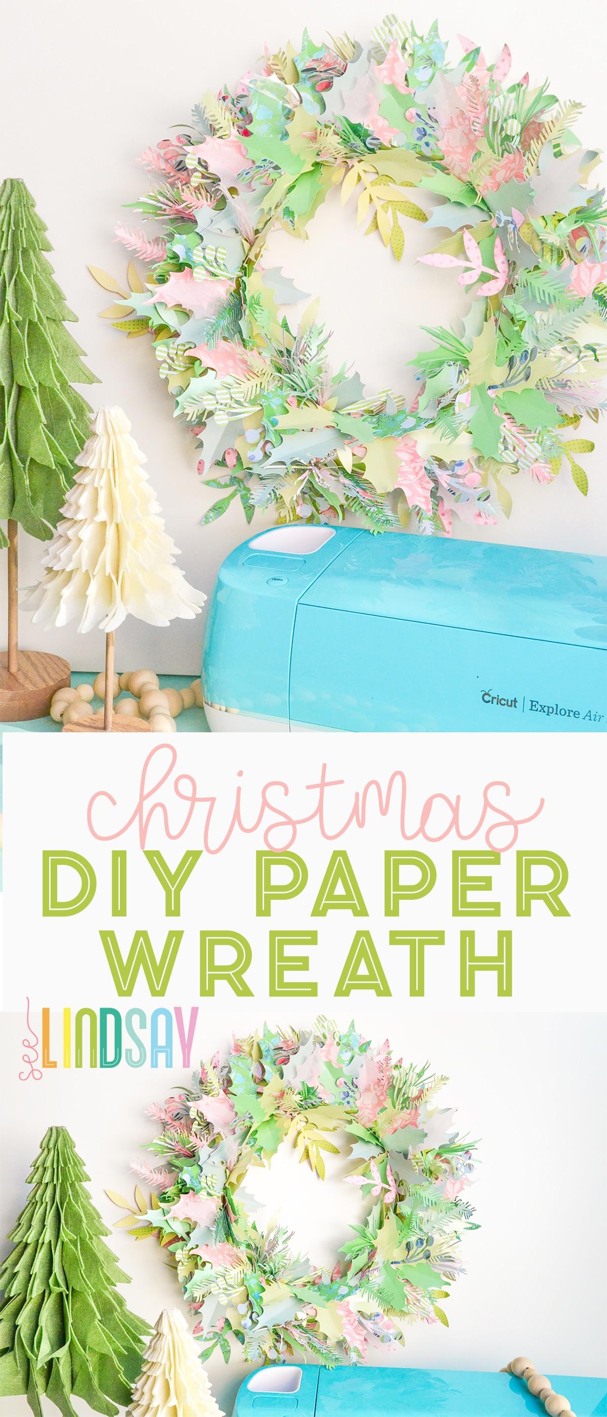paper wreath cricut