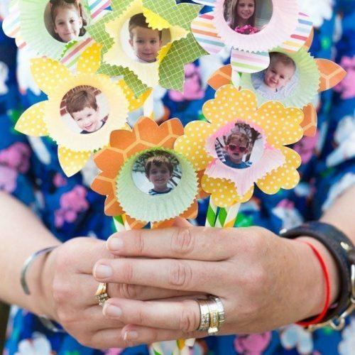 paper cupcake flowers