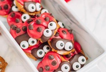 Ladybug Pretzels for a Ladybug Party!