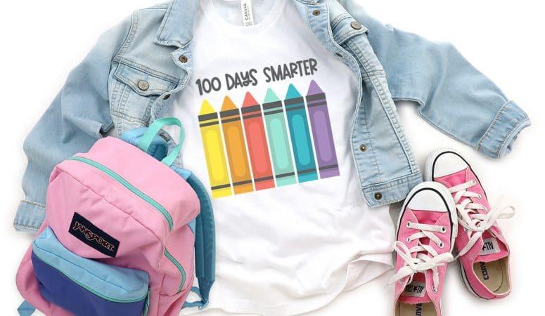 100 Days of School FREE SVG – 100 Days Smarter