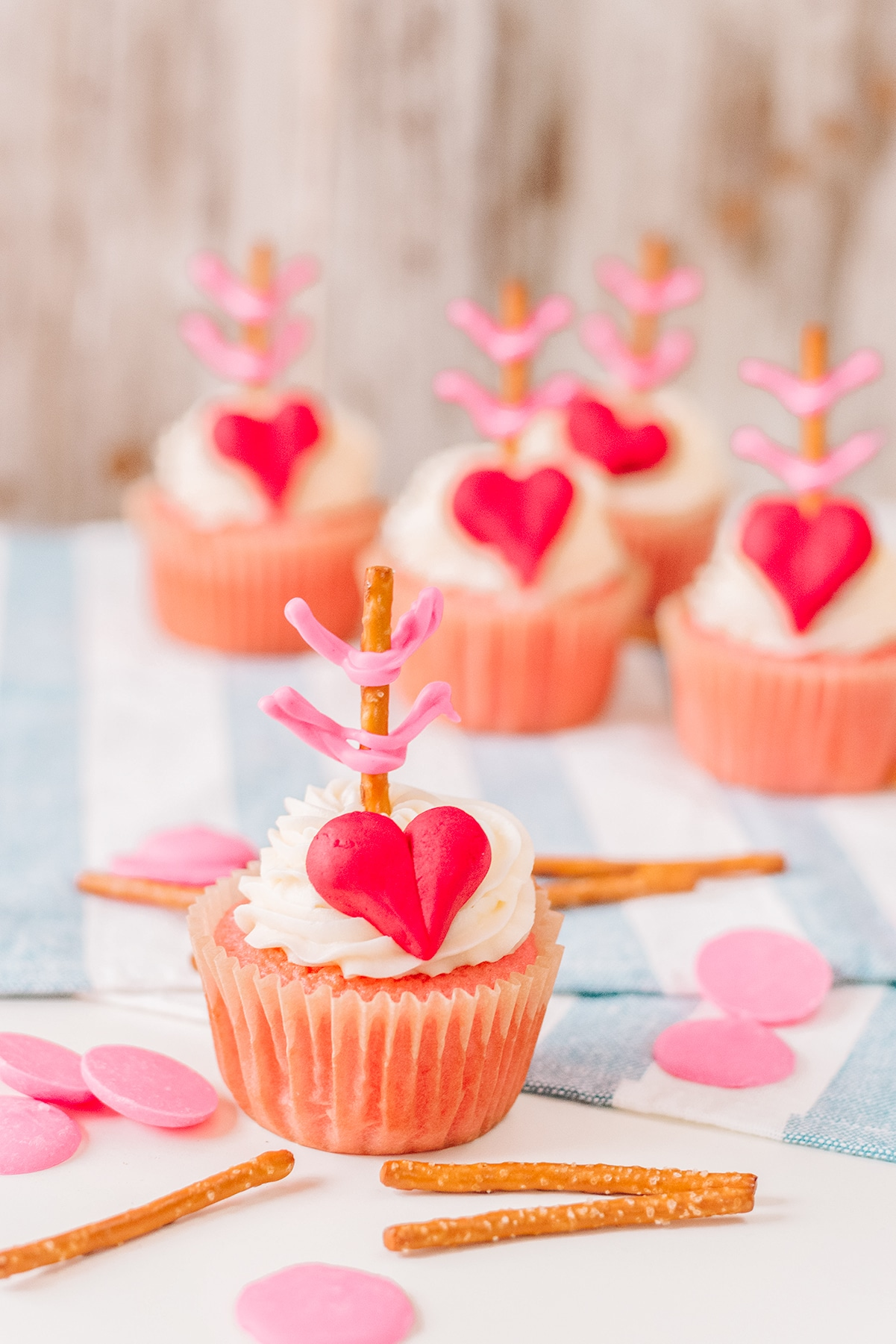 cupid cupcake for valentines day