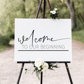 wedding sign using cricut