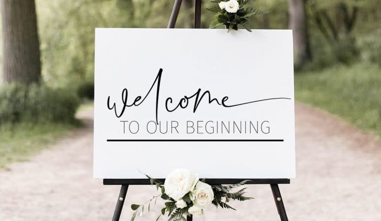 Free Wedding SVG Files and How To Create A Giant Wedding Sign