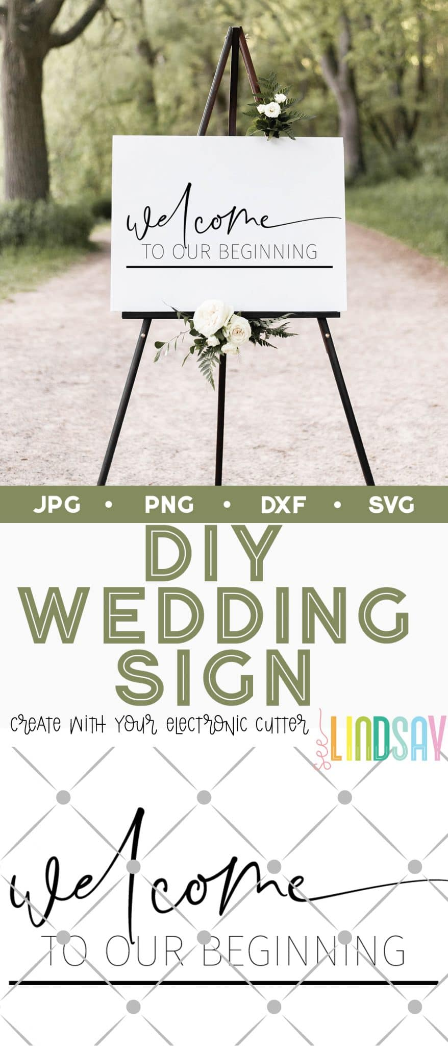 diy jumbo wedding sign