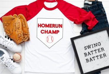 FREE Baseball SVG files – Homerun Champ Shirt