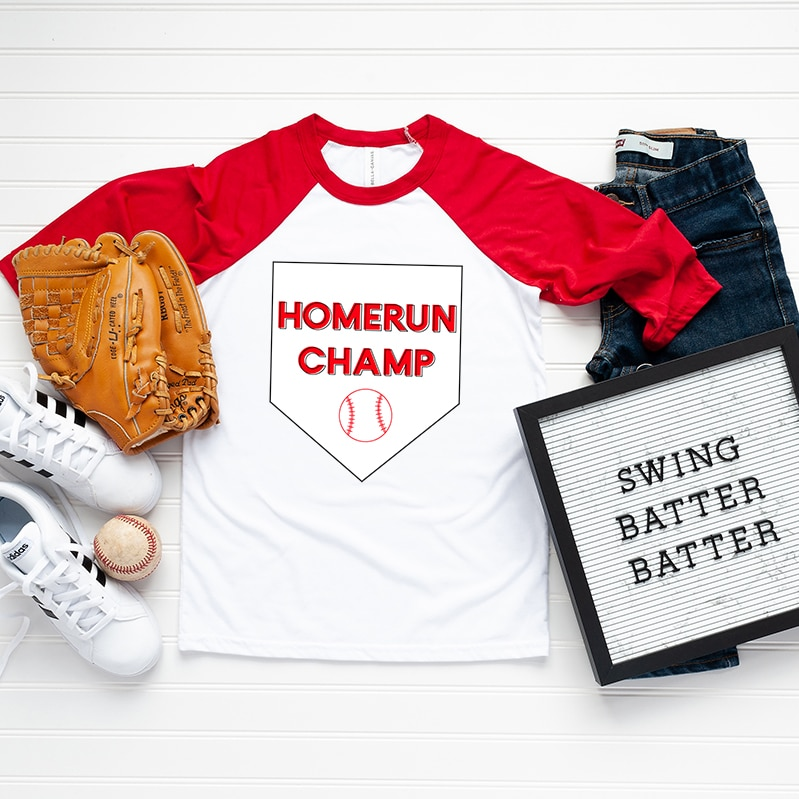 homemade baseball tee