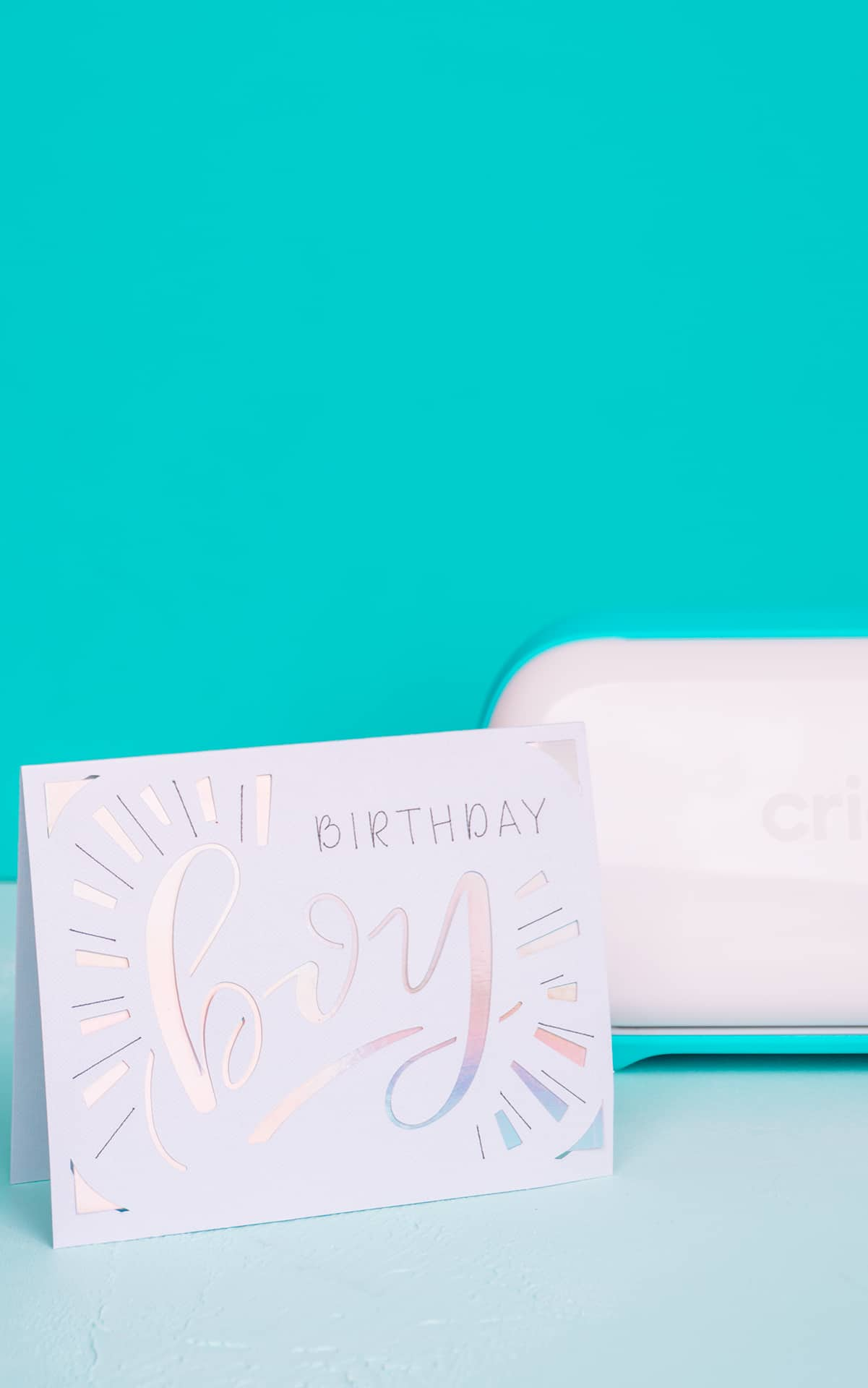 cricut boy birthday card