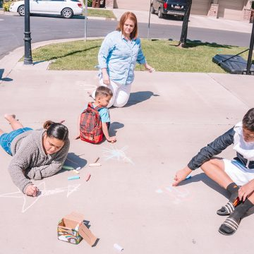 Family chalk art activities