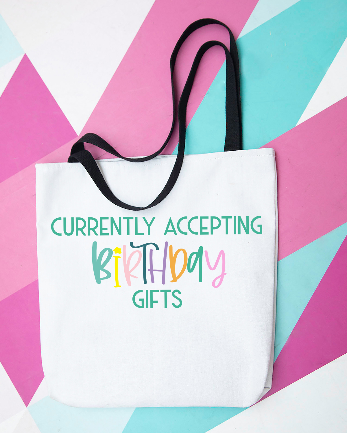 diy birthday tote with free svg
