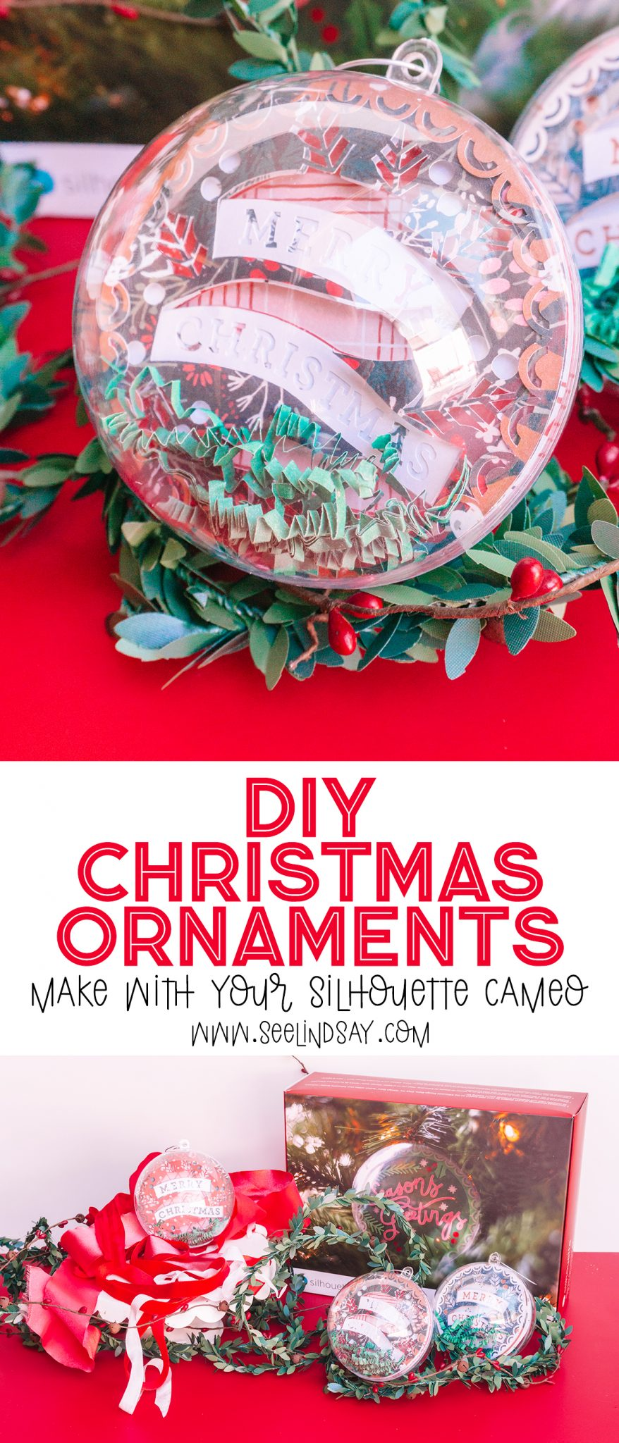 silhouette cameo diy christmas ornaments