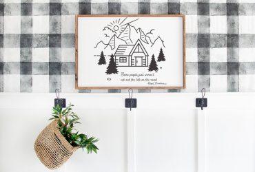 Funny Free Cabin Printable Artwork – Lloyd Christmas Quote