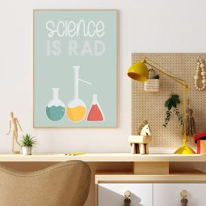 Science is Rad printable poster